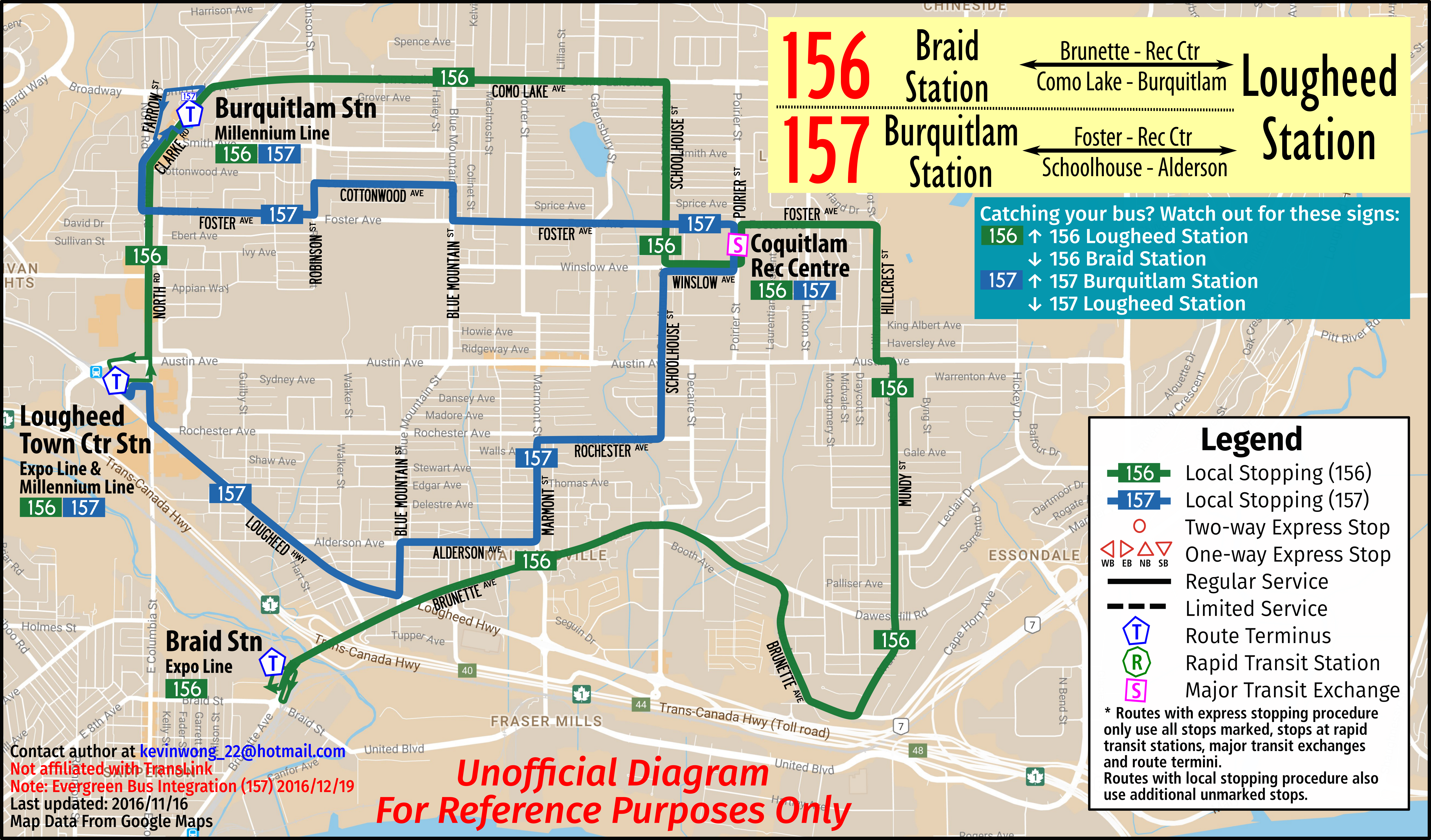 Bus Route Map on